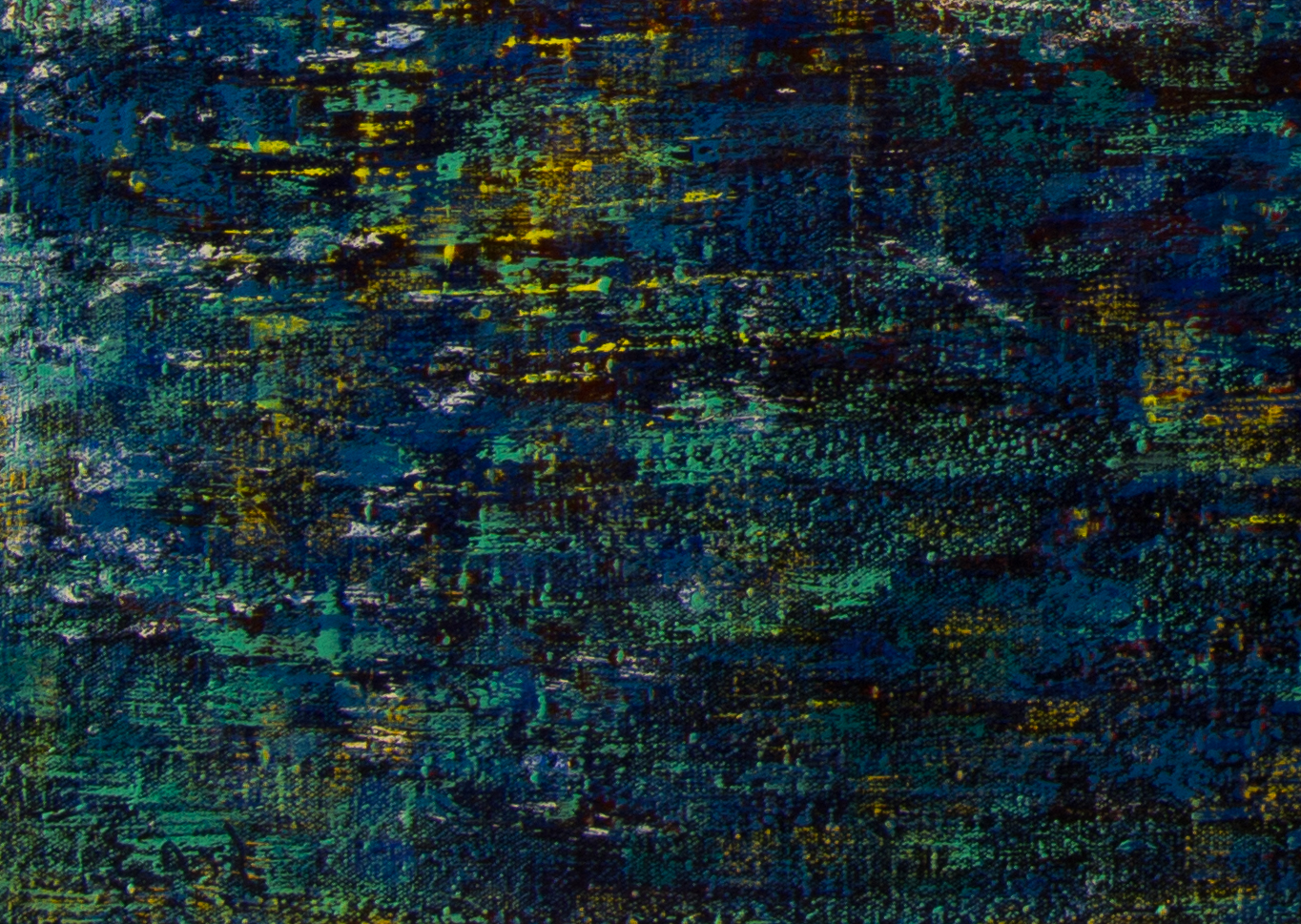 Cerulean Blues-close up with signature